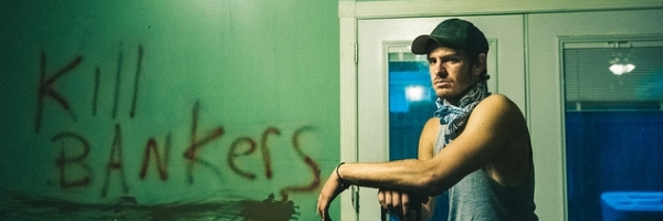 Andrew Garfield in a scene from Ramin Bahrani's 99 Homes {Photo: BROAD GREEN PICTURES}