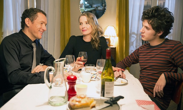 Dany Boon, Julie Delpy, and Vincent Lacoste in a scene from Delpy's  Lolo  {Photo: FILMRISE}