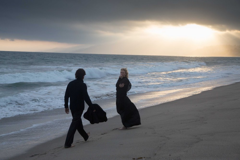 Christian Bale and Cate Blanchett in a scene from Terrence Malick's Knight of Cups {Photo: BROAD GREEN PICTURES}