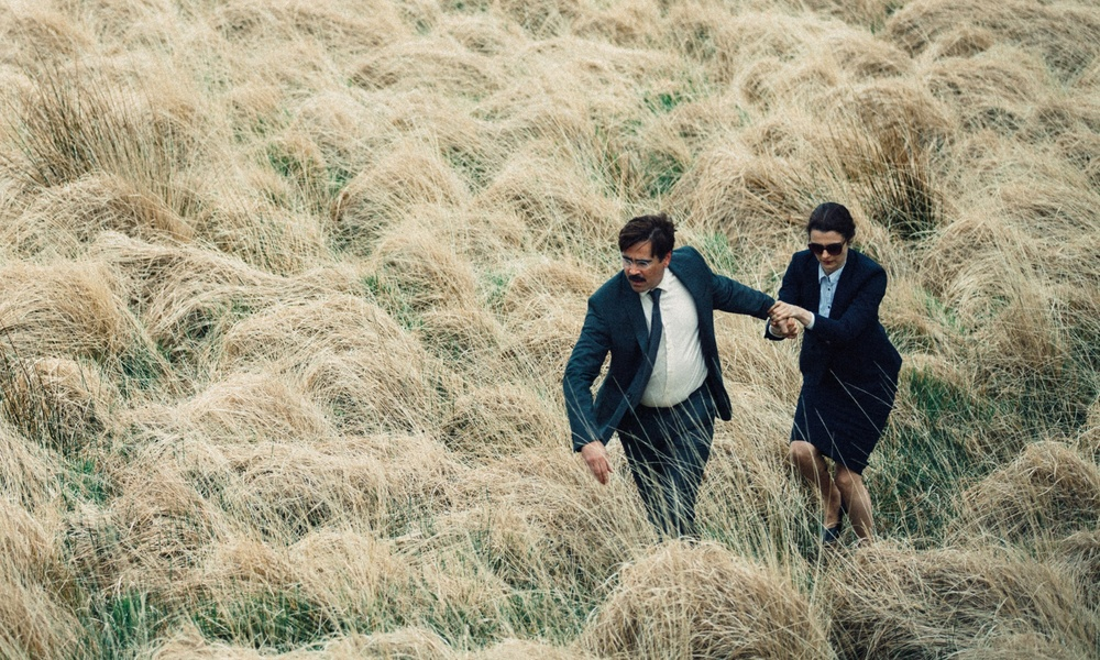 Colin Farrell and Rachael Weisz in a scene from Yorgos Lanthimos' The Lobster {Photo: A24}