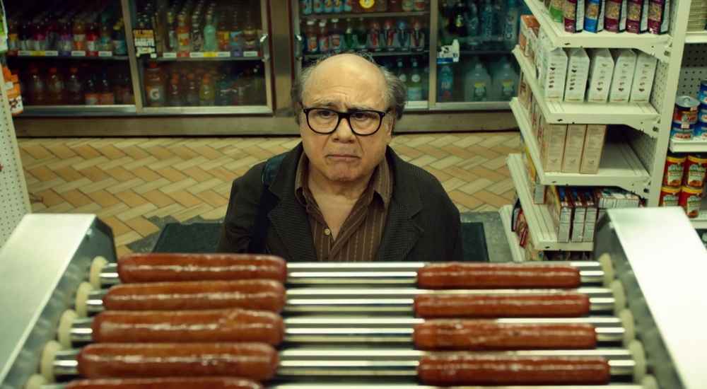 Danny DeVito in a scene from Todd Solondz'  Wiener-Dog  {Photo: A24}