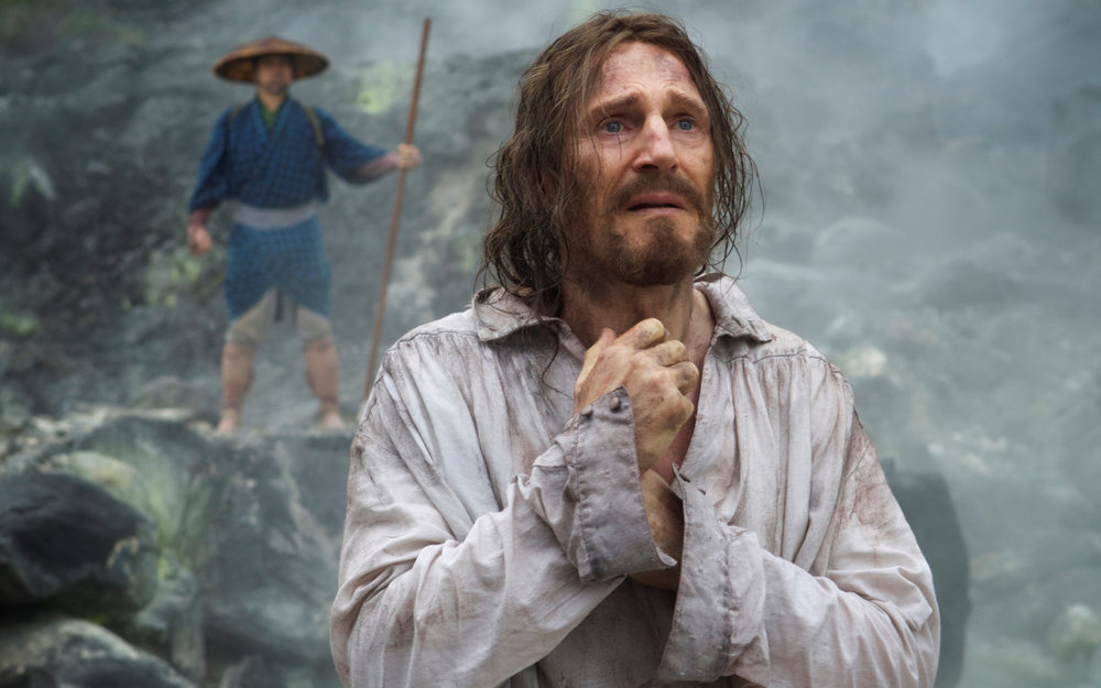 Liam Neeson in a scene from Silence (Paramount Pictures)