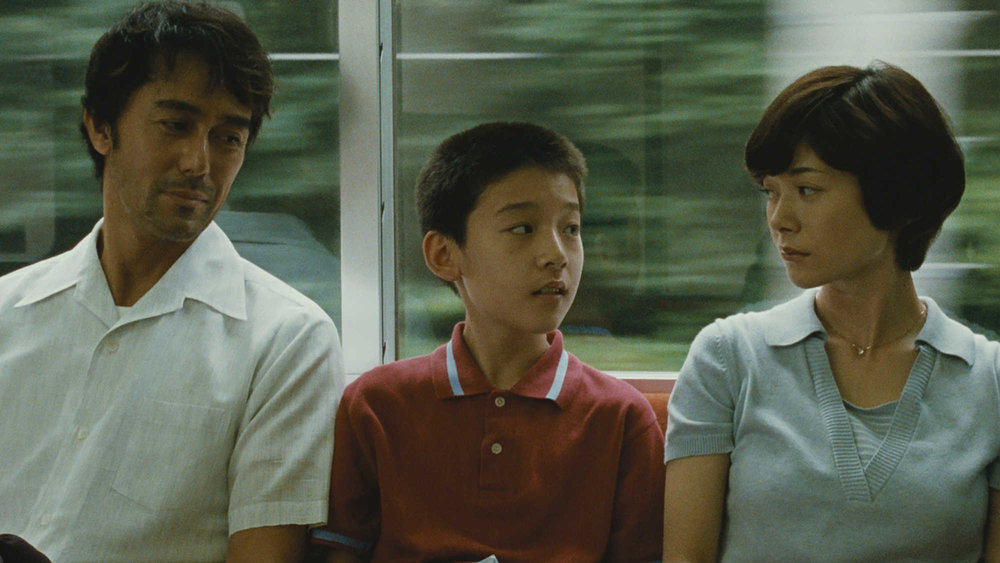 Hiroshi Abe, Taiyô Yoshizawa, and  Yōko Maki in a scene from Hirokazu Kore-eda's  After the Storm  {Photo: FILM MOVEMENT}