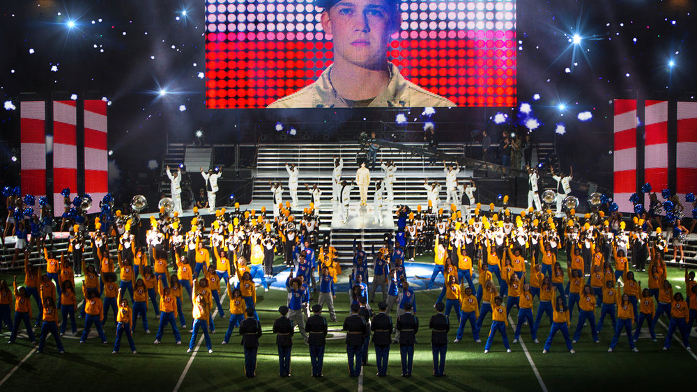 A scene from Ang Lee's Billy Lynn's Long Halftime Walk {Photo: TRISTAR PICTURES}