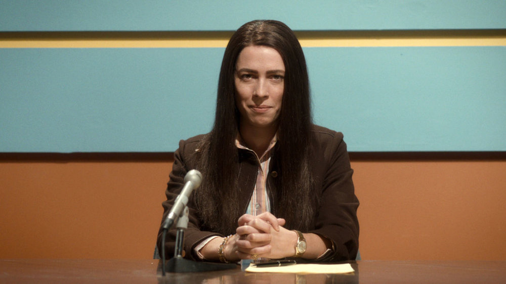 Rebecca Hall in a scene from Antonio Campos' Christine {Photo: THE ORCHARD}