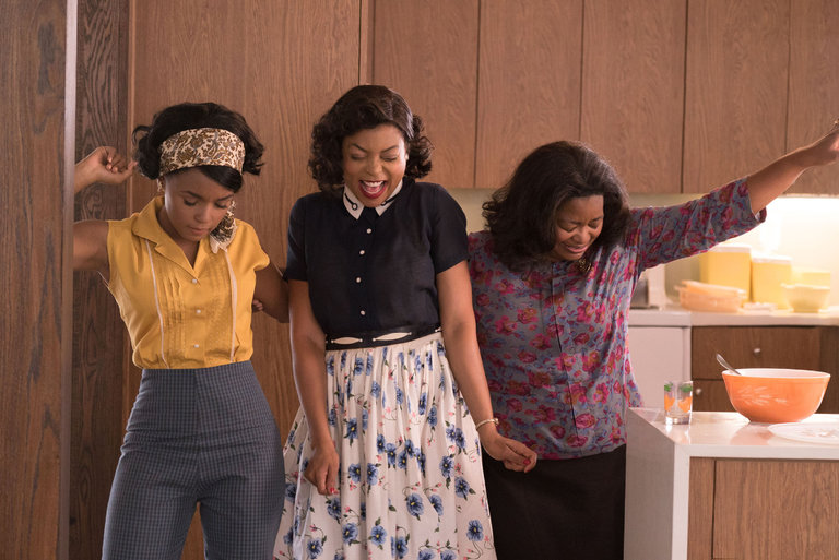 Janelle Monae, Taraji P. Henson, and Octavia Spencer in a scene from Theodore Melfi's  Hidden Figures  [Photo: 20th Century Fox]