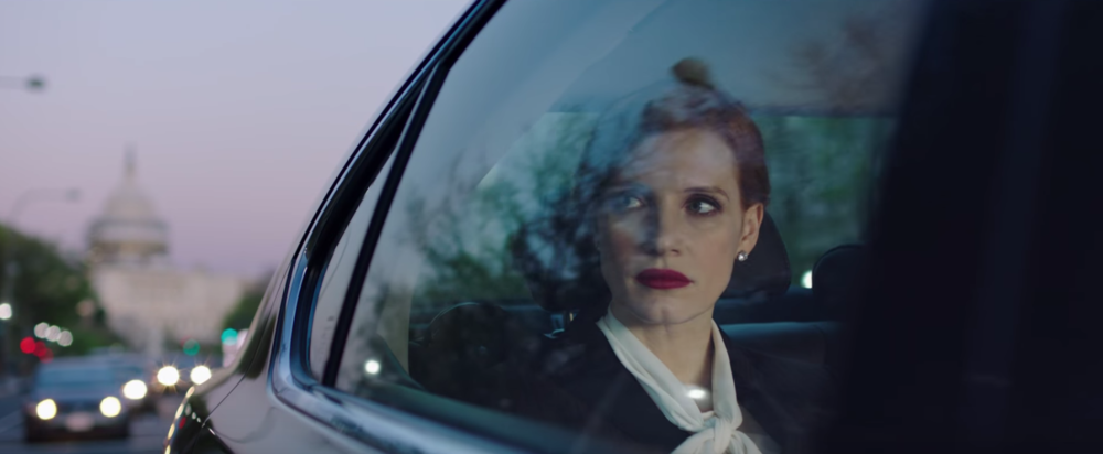 Jessica Chastain in a scene from John Madden's Miss Sloane {Photo: EUROPACORP}