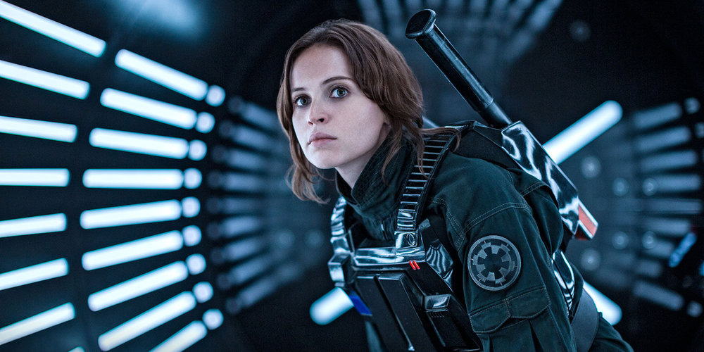 Felicity Jones in a scene from Gareth Edwards' Rogue One: A Star Wars Story {Photo: WALT DISNEY PICTURES}