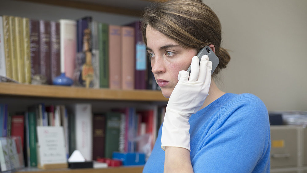 Adèle Haenel in a scene from Jean-Pierre and Luc Dardenne's  The Unknown Girl   {Photo: SUNDANCE SELECTS}