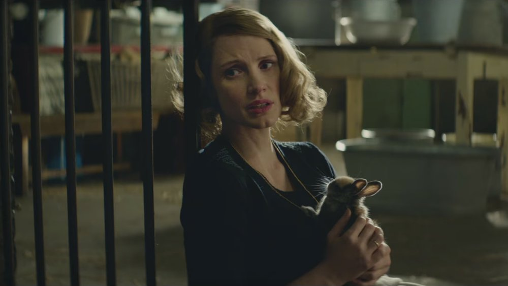 Jessica Chastain in a scene from Niki Caro's  The Zookeeper's Wife  {Photo: FOCUS FEATURES}