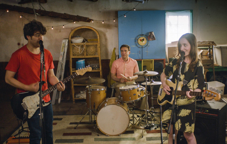 Adam Pally, Fred Arminson, and Zoe Lister-Jones in a scene from  Band Aid  {Photo: IFC FILMS}