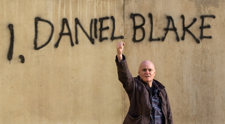 Dave Johns in a scene from, you guessed it,  I, Daniel Blake  {Photo: IFC FILMS}