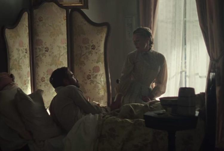 Colin Farrell and Kirsten Dunst in a scene from Sofia Coppola's The Beguiled {Photo: FOCUS FEATURES}
