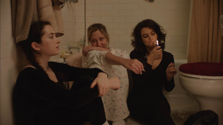 Abby Quinn, Edie Falco, and Jenny Slate in a scene from Gillian Robespierre's  Laneline  {Photo: AMAZON STUDIOS}