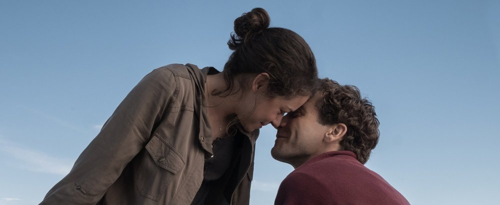 Tatiana Maslany and Jake Gyllenhaal in a scene from David Gordon Green's  Stronger  {Photo: LIONSGATE/ROAD SIDE ATTRACTIONS}