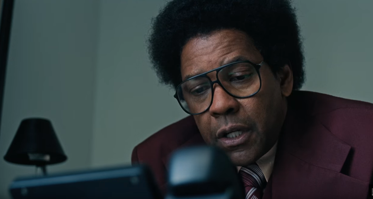 Denzel Washington in a scene from Dan Gilroy's  Roman J. Israel Esq.  {Photo: COLUMBIA PICTURES}