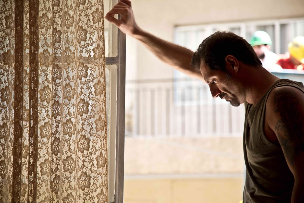 Adel Karam in a scene from Ziad Doueiri's  The Insult  {Photo: COHEN MEDIA GROUP}
