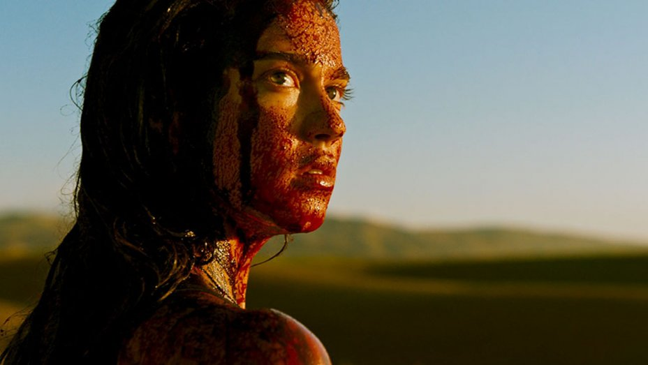 Matilda Lutz in  a scene from Coralie Fargeat's  Revenge  {Photo: NEON}