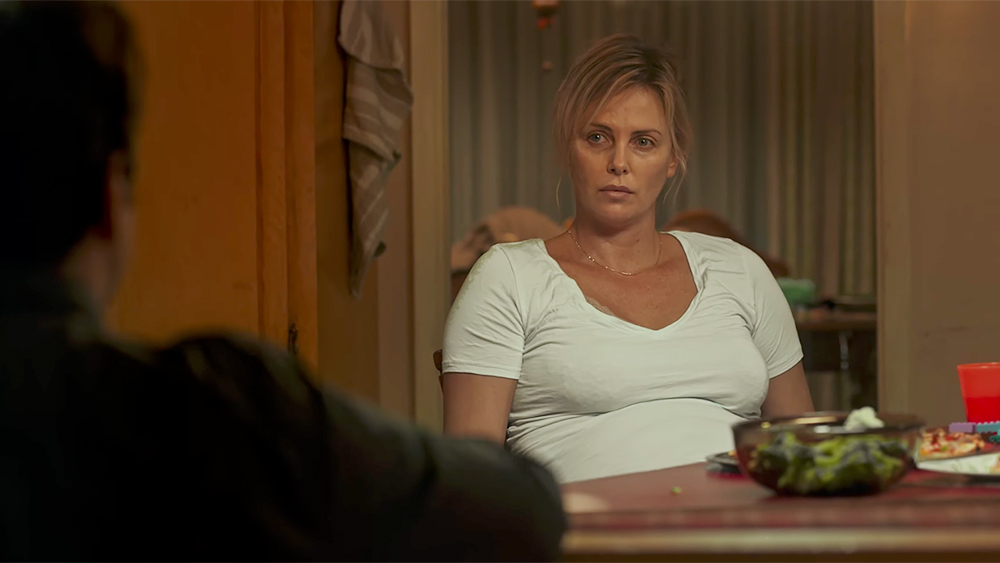 Charlize Theron in a scene from Jason Reitman's  Tully  {Photo: FOCUS FEATURES}