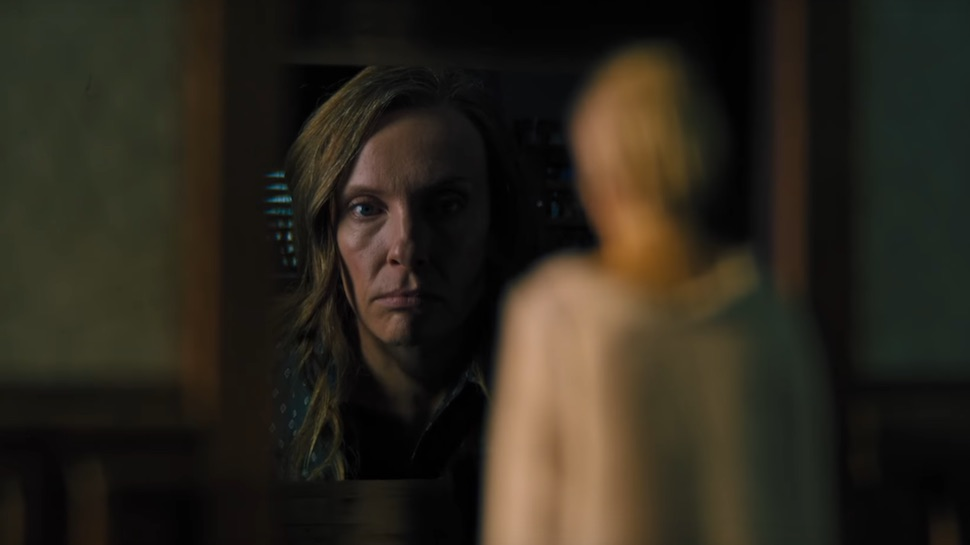 Toni Collette in a scene from Ari Aster's  Hereditary  {Photo: A24}