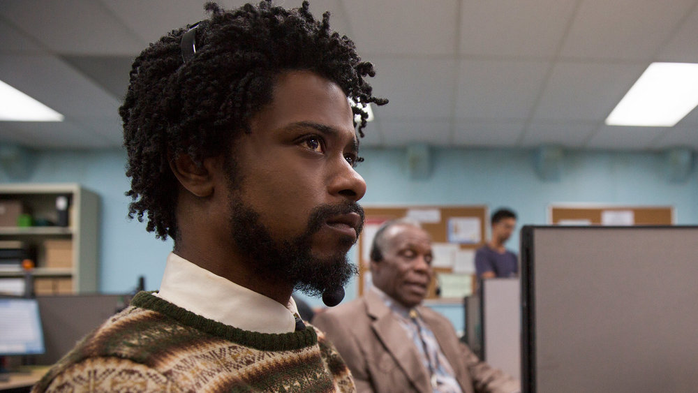 Lakeith Stanfield in a scene from Boots Riley's  Sorry to Bother You  {Photo: ANNAPURNA}