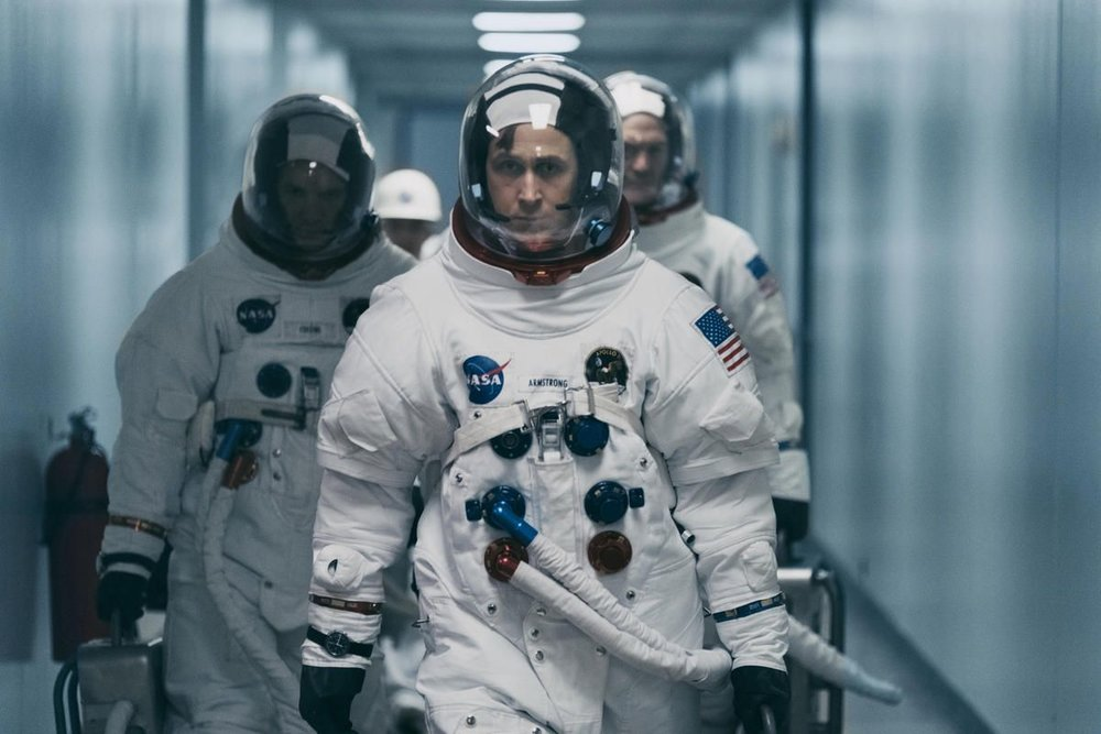 Ryan Gosling in a scene from Damien Chazelle's  First Man  {Photo: Universal Pictures}