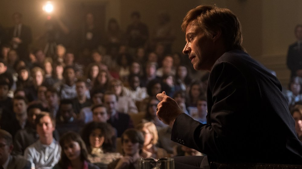 Hugh Jackman in a scene from Jason Reitman's  The Front Runner  {Photo: COLUMBIA PICTURES}
