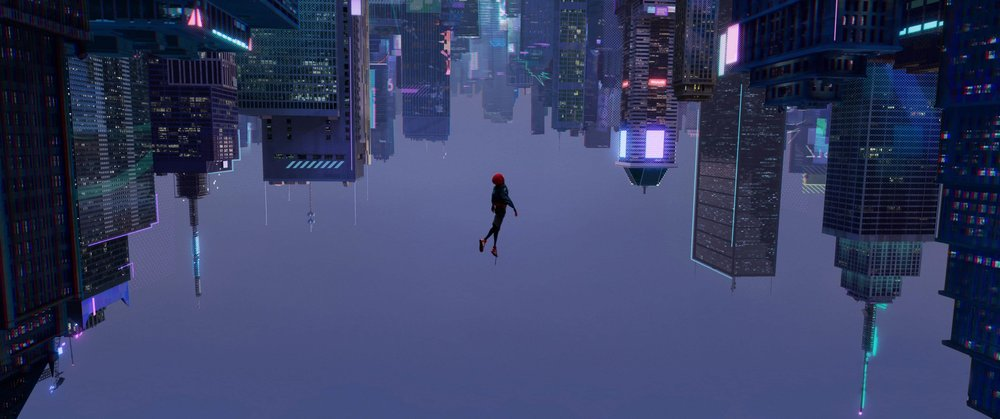 A scene from  Spider-Man: Into the Spider-Verse  {Photo: SONY PICTURES ANIMATION}