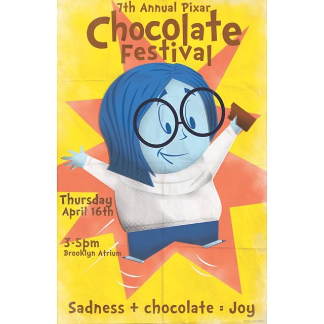 Pixar Chocolate Fest Poster