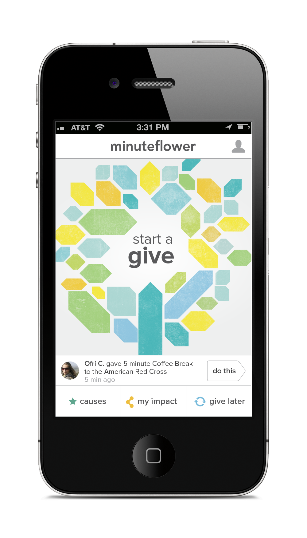MinuteFlower Homescreen