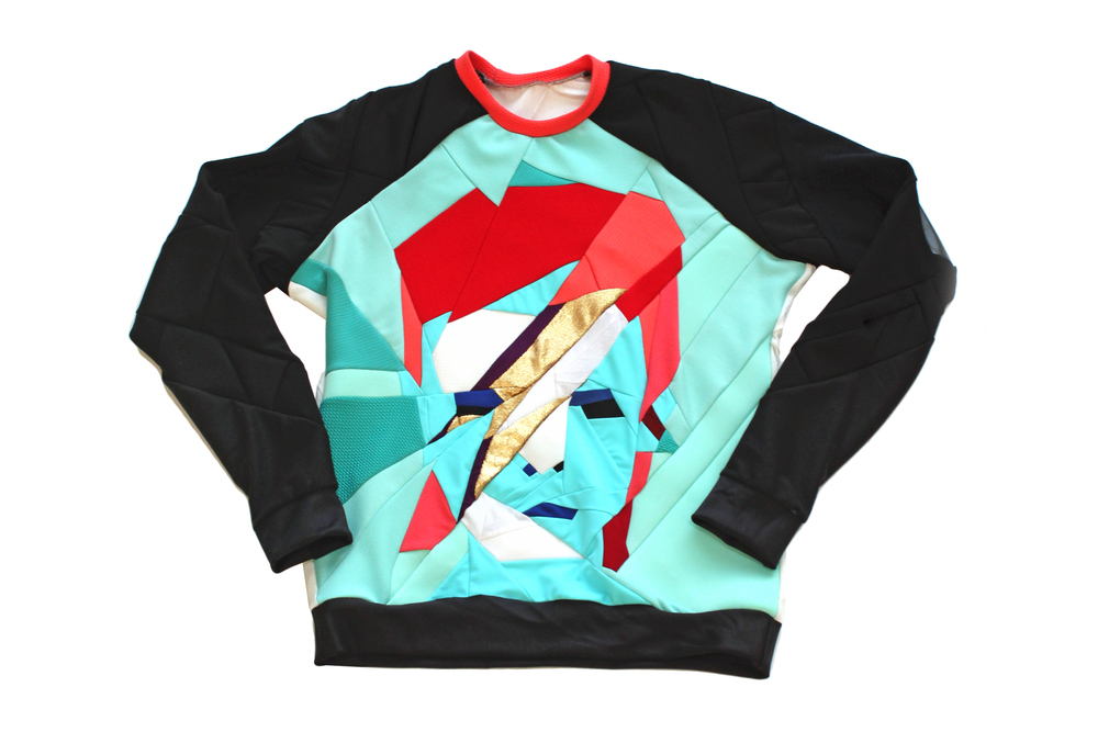zwd daniel silverstein david bowie zero waste sweatchirt up-cycled recycled eco friendly sustainable fashion