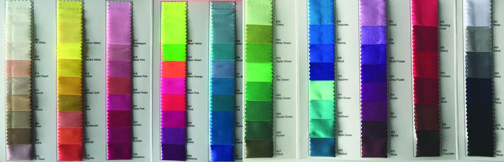 matte spandex colors