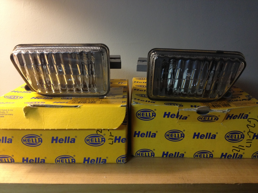 OEM NOS MK2 hella big bumper fog lights