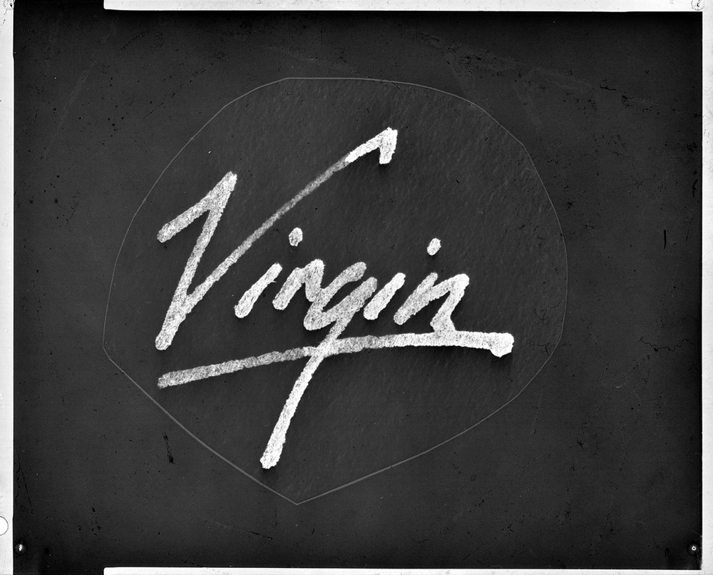 Original sketch for the Virgin logo (courtesy of  You Never Told Us )