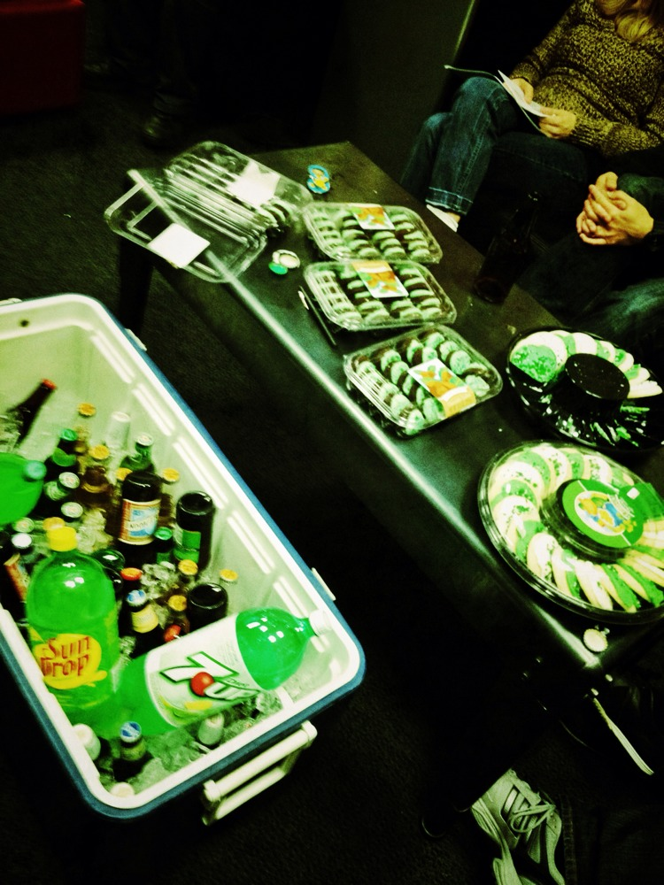 Green goodies + Professional Russian blowing things up = St. Patty's @oakley