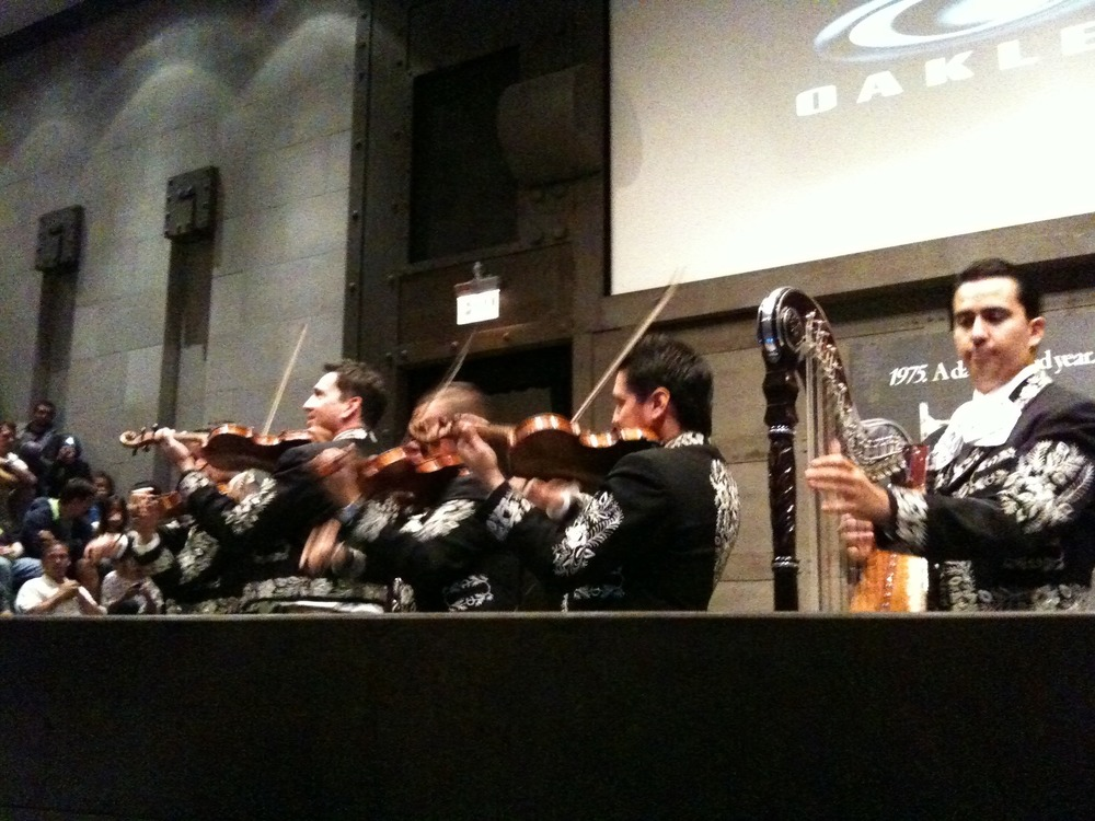 Oakley team meetings always start with something unexpected. Mariachi!