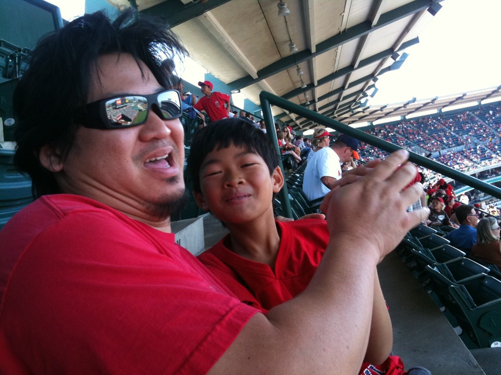 A few pics from the Angels game with the boy and some coworkers.