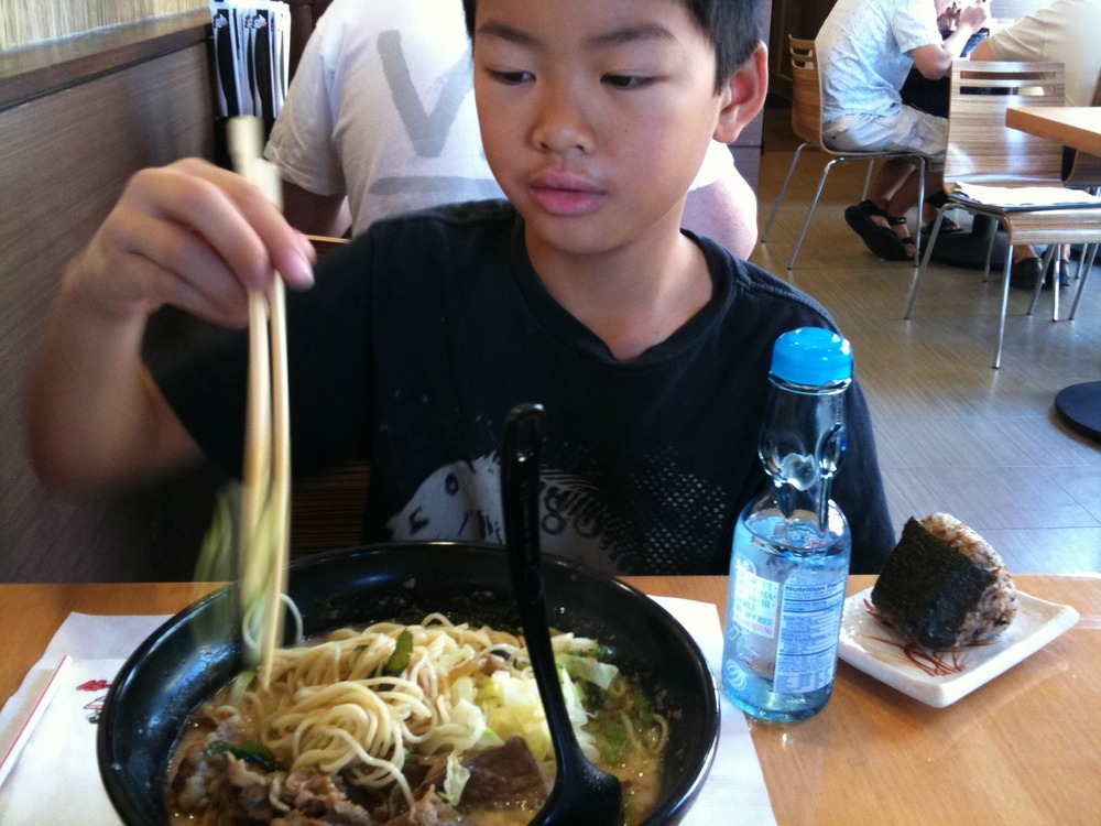 A boy and his Ramen.
