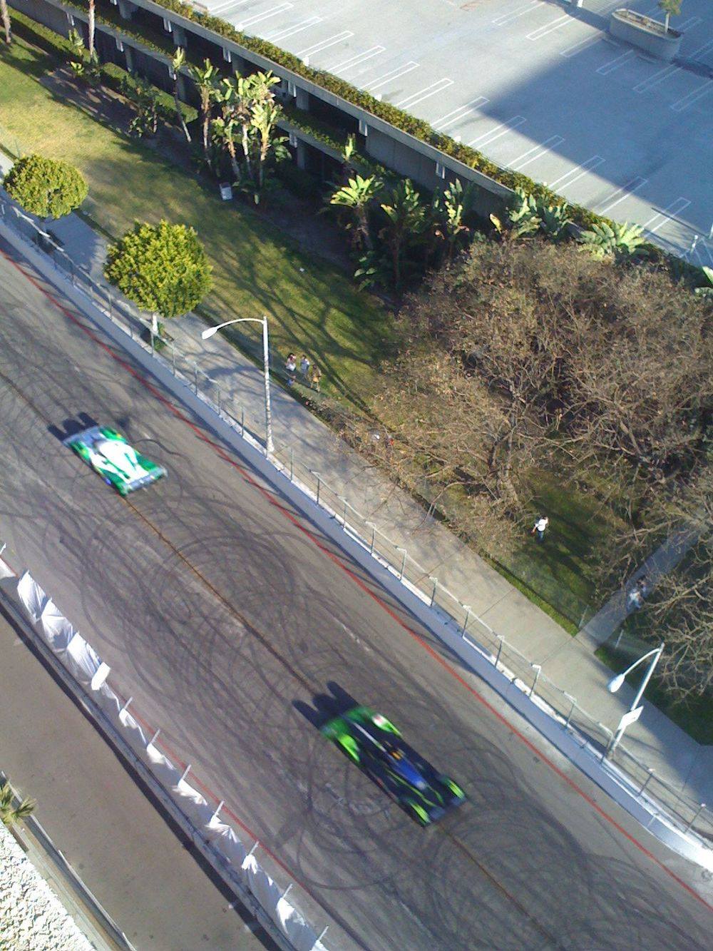 The Long Beach Grand Prix view from @gstiehl 's mom's balcony