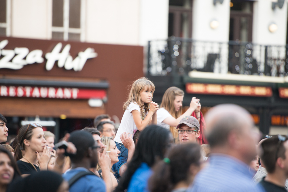 Excited fans hope to score a glance of One Direction at the premiere in Leicester Square