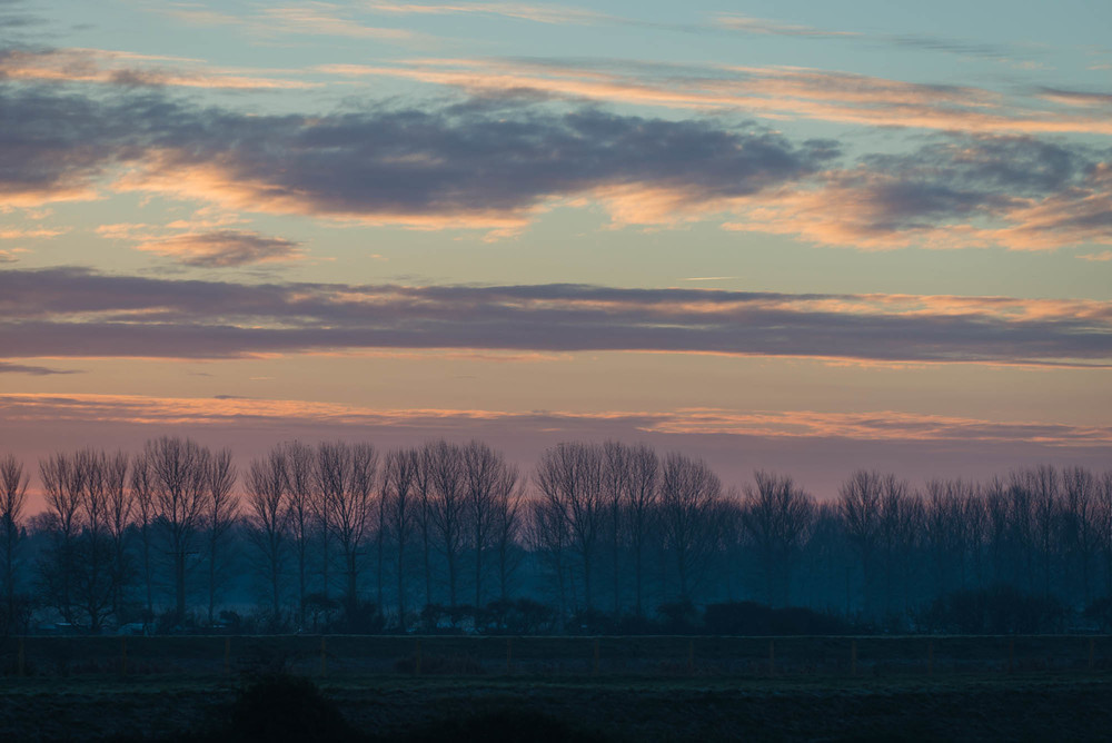 Sunrise in Ely on the way to an early shoot.