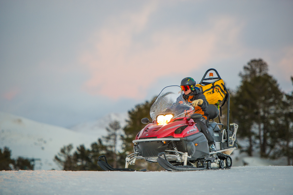Fun Fact: much like a jetski, it is impossible not to look badass on a snowmobile.
