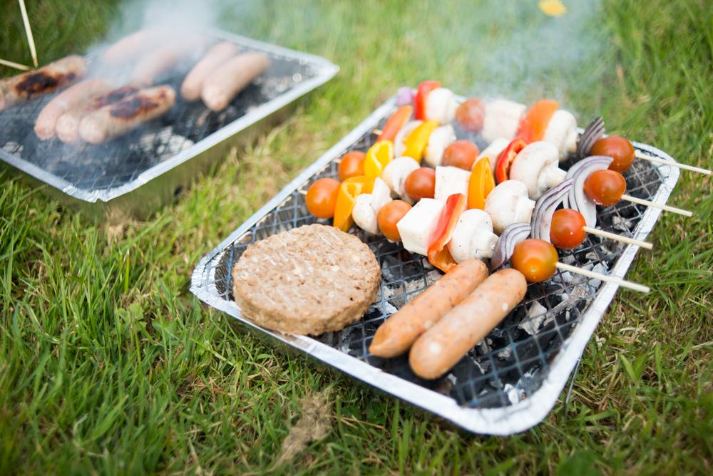 Halloumi kebabs > meaty sausages