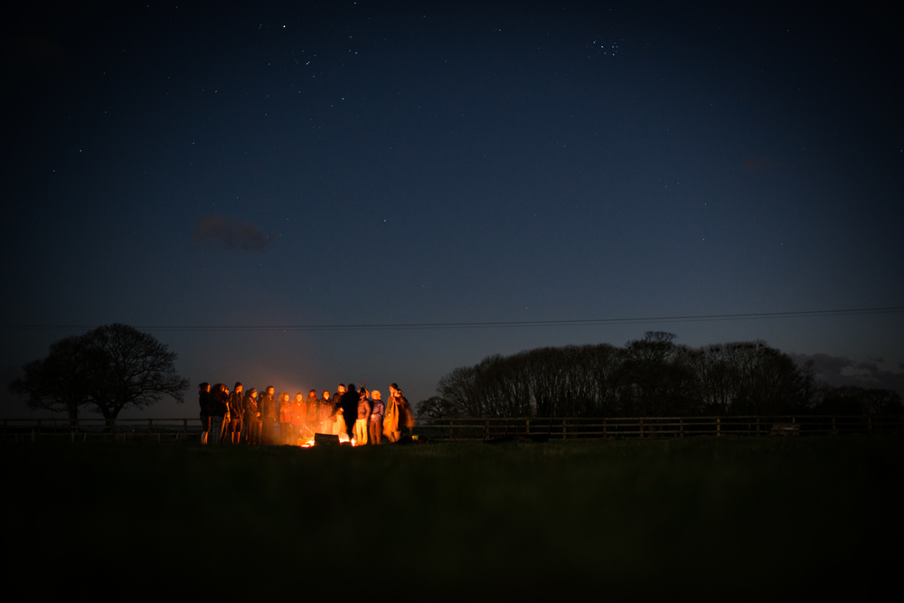 On the final night, we slept out around the campfire and watched the International Space Station fly overhead.
