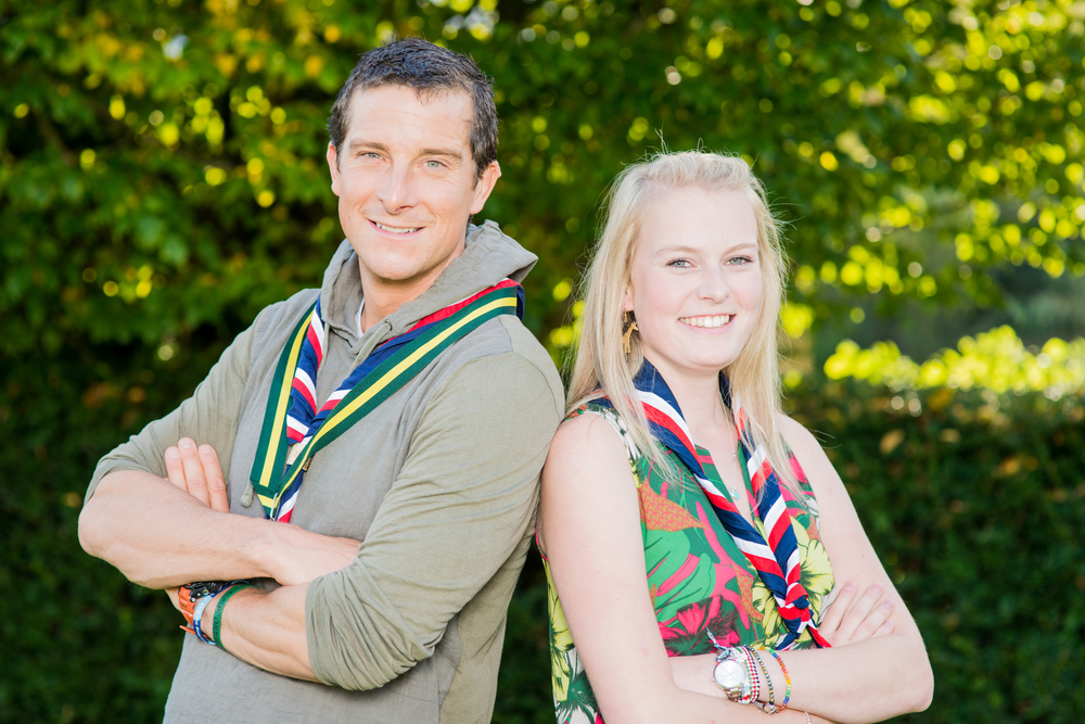 And a quick visit with Hannah at a meeting with Chief Scout Bear Grylls
