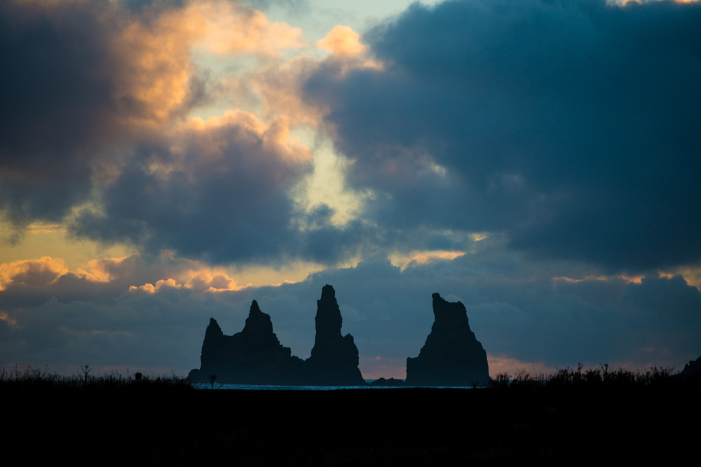 The Three Witches, as seen from Vik