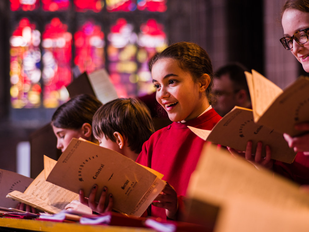 Young Choristers at Manchester Cathedral