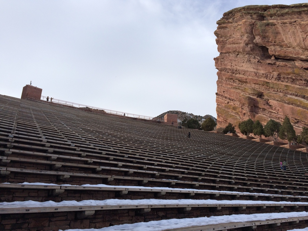 Red Rocks Amphitheater Snow