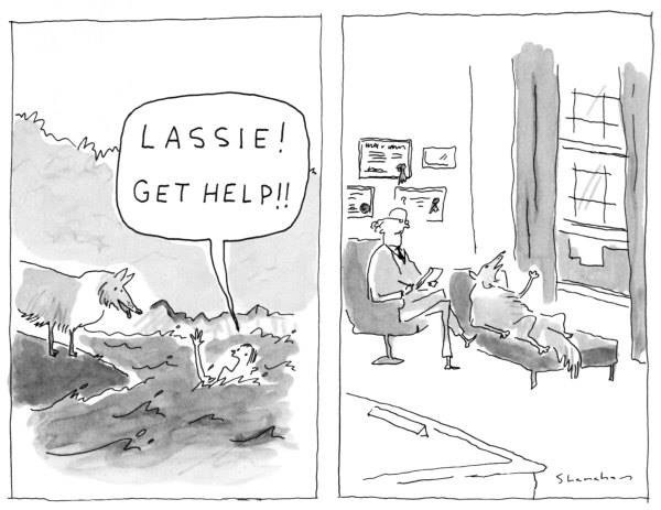 A 1989 New Yorker cartoon by Danny Shanahan
