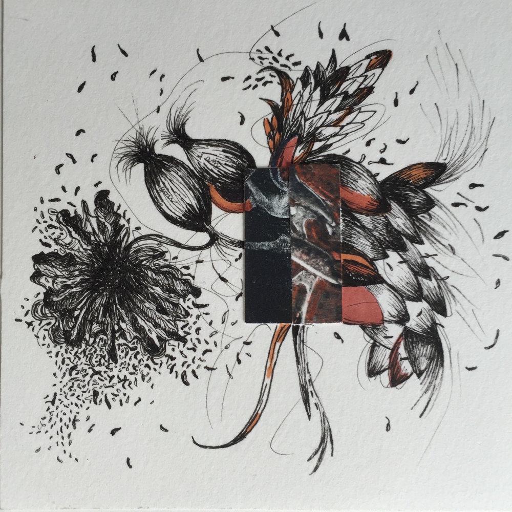 Shigaraki Japan 8   4 1/2 x 4 1/2 inches  ink on paper  2015